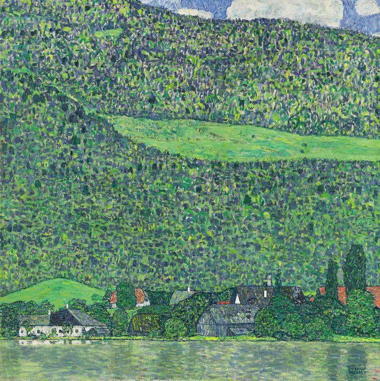 'Litzlberg am Attersee' van Gustav Klimt. Beeld null