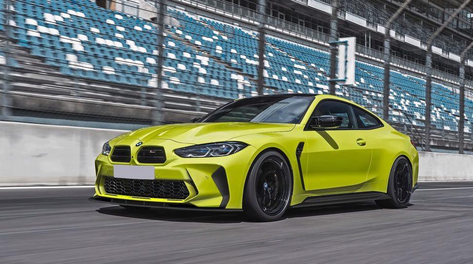 BMW M4 met nieuwe neus.