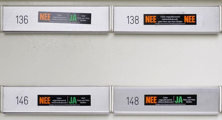 De nee-ja-brievenbussticker verdwijnt mogelijk uit het straatbeeld Beeld anp