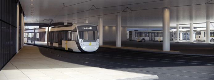 Zo moet de tram er gaan uitzien.