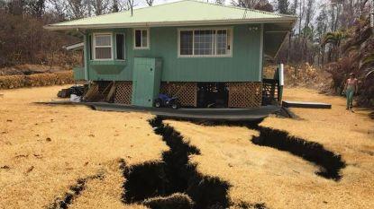 Schrikwekkende beelden: hoelang kan dit huis op Hawaï het nog houden boven gigantische aardscheuren?