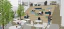 Impressie van de aula in de nieuwbouw van OBC Elst.