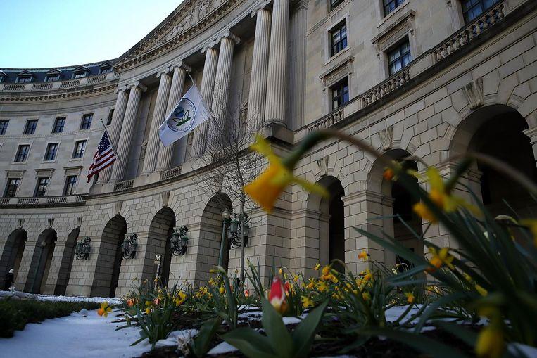 Hoofdkantoor van het EPA in Washington, DC Beeld afp