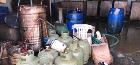 Drugsactie in onder meer Zaltbommel: zeven aanhoudingen en ruim 30 ton chemicaliën opgespoord