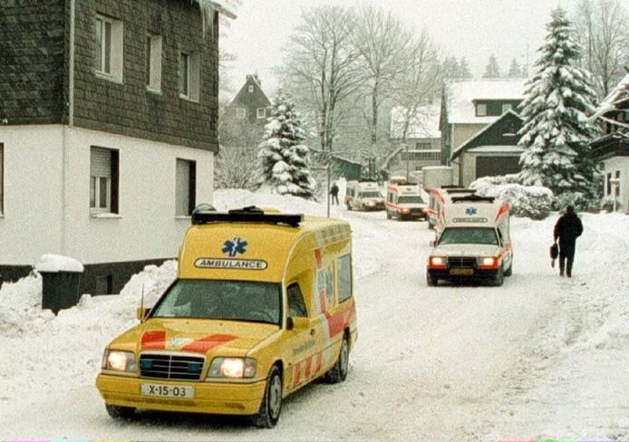 Woensdagmiddag 14 februari 1996 is een aantal gewonden met ambulances en taxis opgehaald in Winterberg, om naar ons land te worden overgebracht. De slachtoffers van het busongeval werden in Utrecht opgevangen.