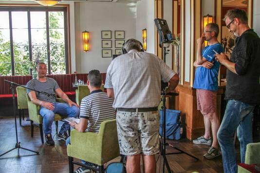 Maarten van der Weijden tijdens een interview dinsdagmiddag in het Leeuwardense hotel waar hij verbleef. Hij is inmiddels vertrokken naar zijn huis.