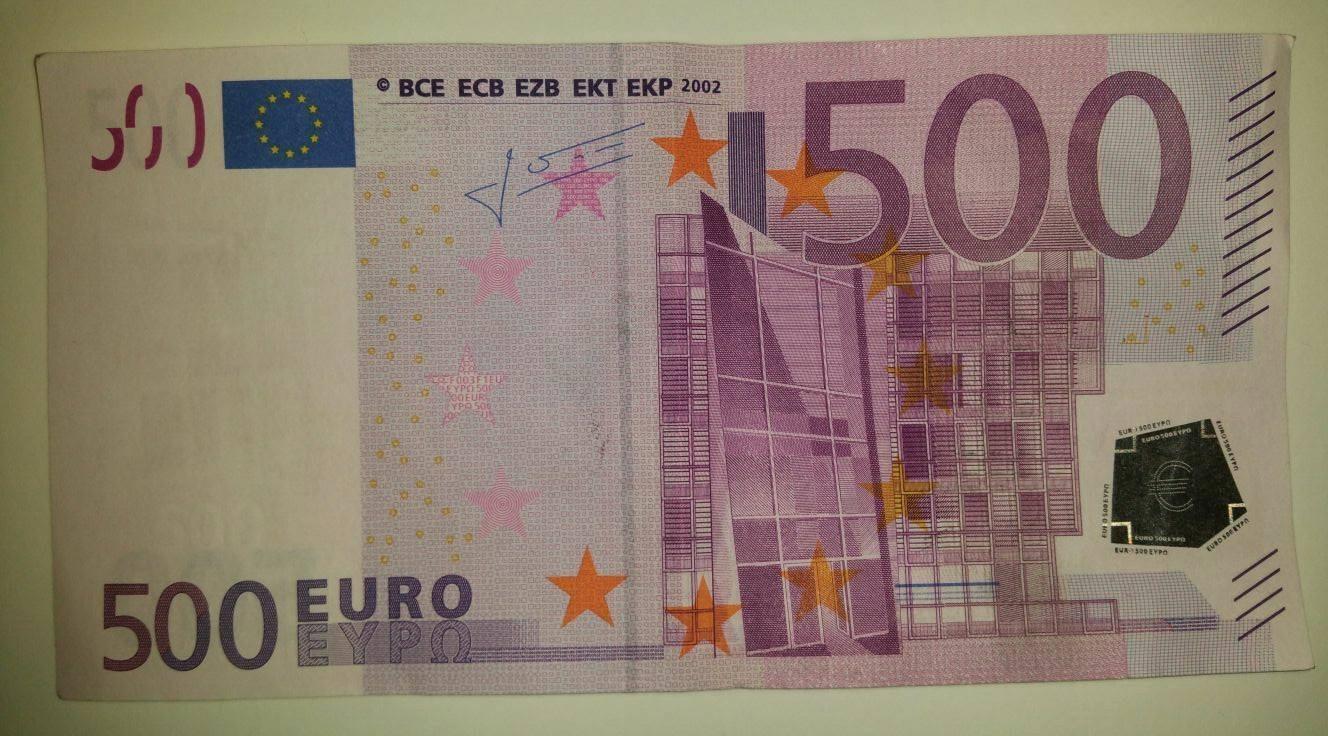 Man aangehouden met vals 500 euro biljet foto for Ecksofa 500 euro