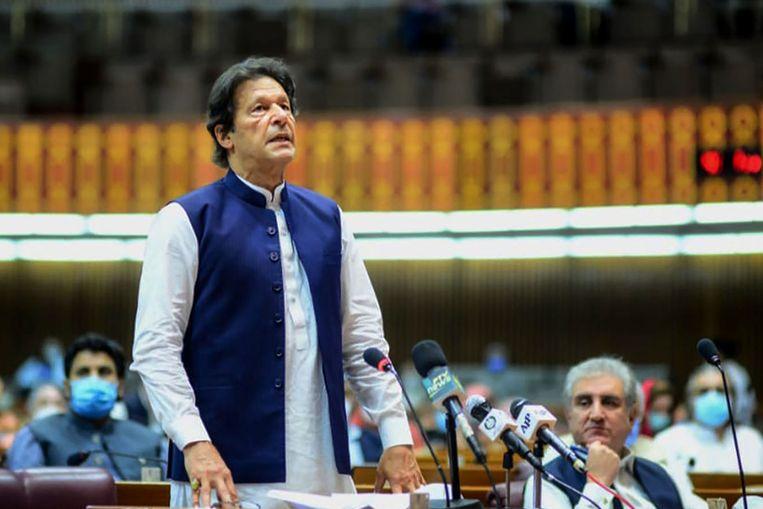 De Pakistaanse premier Imran Khan.