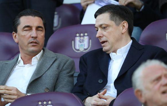 Luyckx en Veljkovic vorig seizoen samen in de tribunes op Anderlecht.