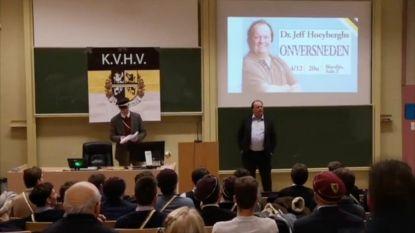 Schorst UGent KVHV voor vier maanden na ophef over lezing Jeff Hoeyberghs?
