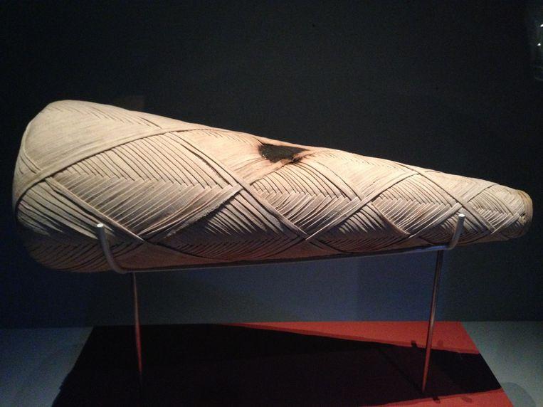 Een mummie van een ibis uit circa 300 voor christus. Beeld null