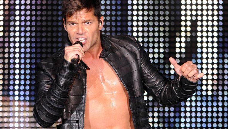 Ricky Martin tijdens een optreden in het Duitse Mannheim afgelopen zomer. Beeld epa