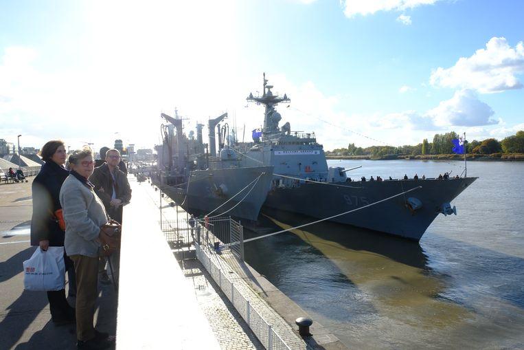 De marineschepen vertrekken zondag richting Hamburg