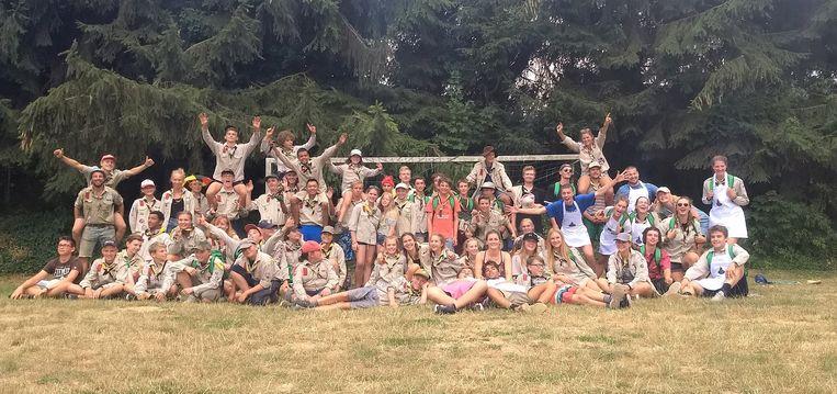 De huidige scoutsgroep Bergrakkers.