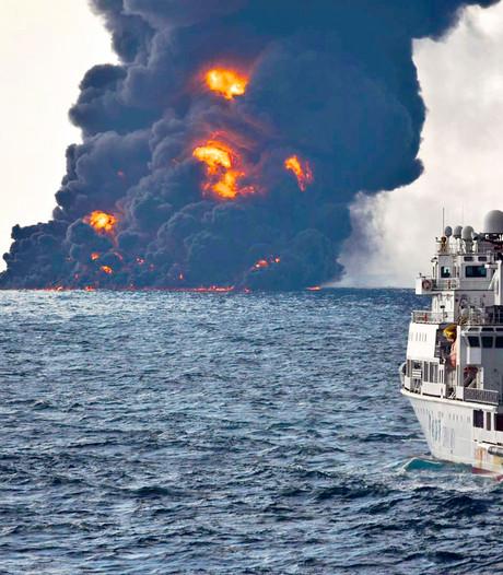 Omvang milieuramp onduidelijk na zinken van Iraanse olietanker