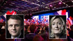 Macron en Le Pen stoten door naar tweede ronde