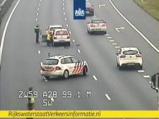 Rijstroken A28 tussen Staphorst en Zwolle tijdelijk gesloten door ongeval