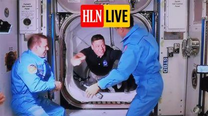HLN LIVE. Astronauten van Crew Dragon aan boord getreden van ruimtestation ISS