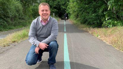 Fluorescerende strook op komst om fietspaden te 'verlichten'