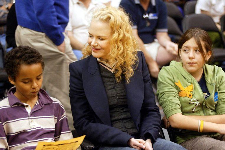 Nicole Kidman met Connor en Isabella in 2004.