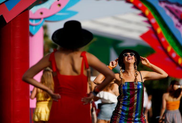 Festivalgangers op Coachalla.