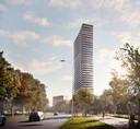 Hoogbouw in Eindhoven: de toren die op de Bunker aan de Kennedylaan komt.
