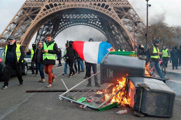 Protest van de gele hesjes in Parijs, 9 februari 2019.
