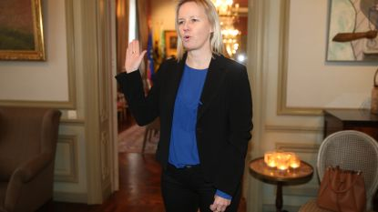 Katja Gabriëls (Open Vld) legt eed af bij gouverneur