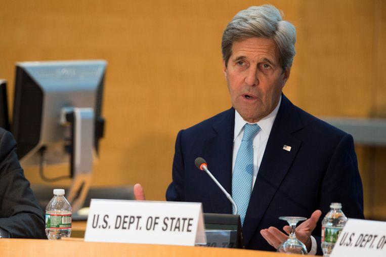 De Amerikaanse minister van Buitenlandse Zaken, John Kerry.