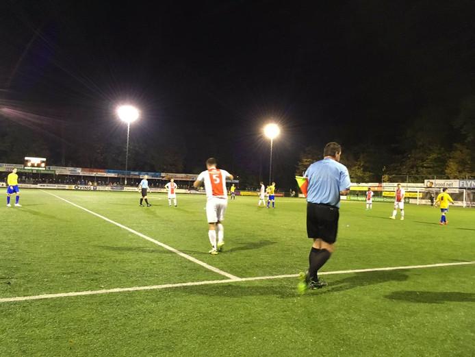 Tjeerd Korf viel namens Flevo Boys in, maar kon niet de wedstrijd openbreken.