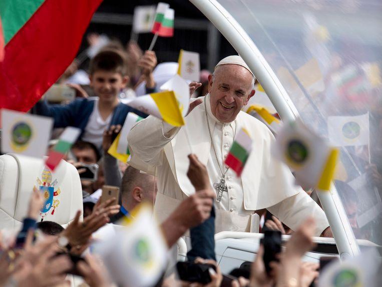 Paus Franciscus in Sofia, Bulgarije.