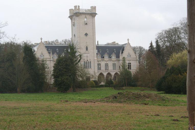 Zicht van het kasteel van Meldert vanuit Meldertbos