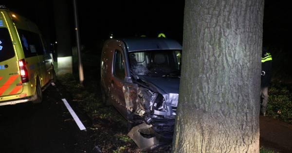 Automobilist gewond door botsing met bomen in Zevenaar.