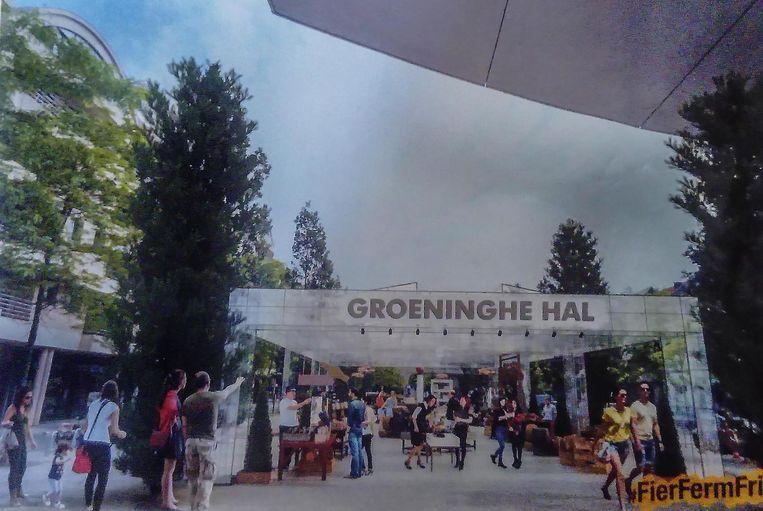 N-VA en Team Burgemeester willen op de Veemarkt weer een markthal bouwen.