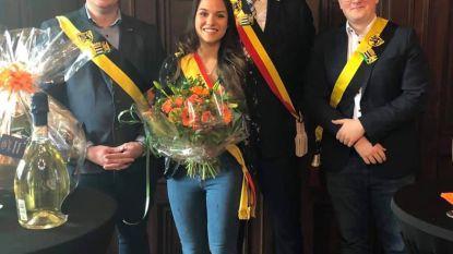 Miss België-finaliste gehuldigd in stadhuis