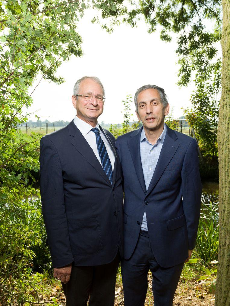 Rabbijn Menno ten Brink en imam Marzouk Aulad Abdellah. Beeld Ivo van der Bent