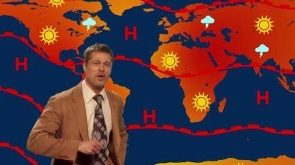 Brad Pitt maakt comeback als weerman, maar voorspelt niet veel goeds