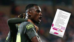 """Fan van Kortrijk die apengebaren maakte richting Mpoku excuseert zich uitgebreid bij Standard-speler: """"Voel me heel schuldig over wat ik deed"""""""