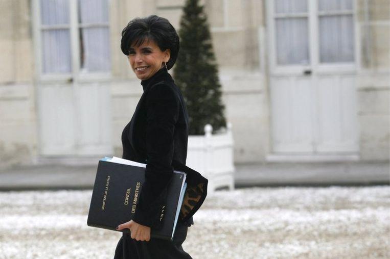 De beslissing wordt gepresenteerd als een carrièrestap van Dati (43), maar in feite is het een stap terug voor de ambitieuze vrouw die twintig maanden geleden door Sarkozy werd gepresenteerd als het symbool van 'het openstellen van publieke functies voor vrouwen en minderheden'. Foto EPA/Melanie Frey Beeld