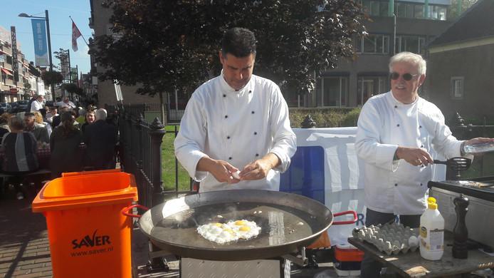 400 eieren bakken