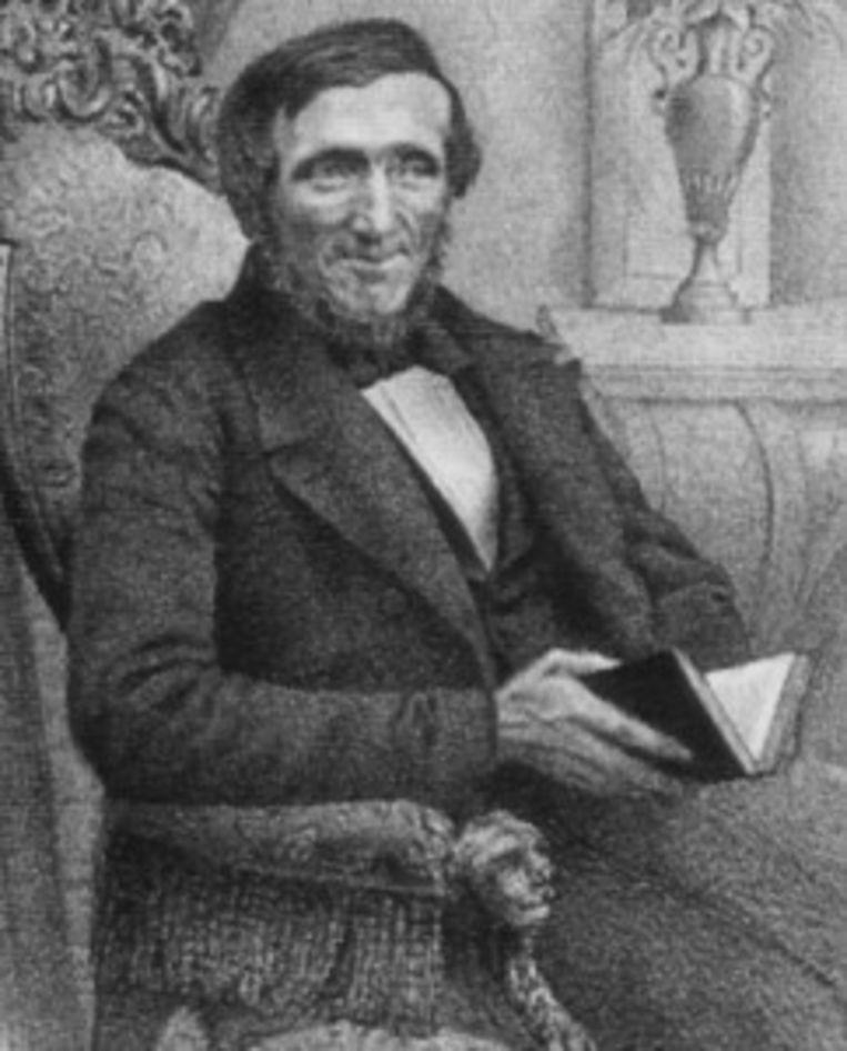 Jan Schenkman, de auteur van het allereerste sinterklaasboekje, uit 1850
