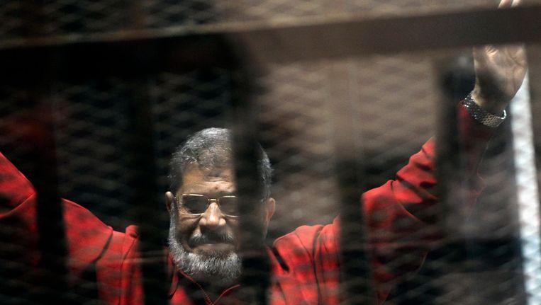 Morsi in een cel. Beeld ap