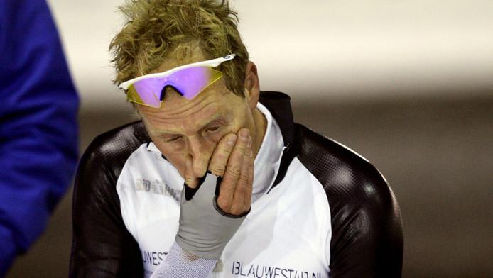 Rintje Ritsma na een zware 500 meter. © Archieffoto ANP