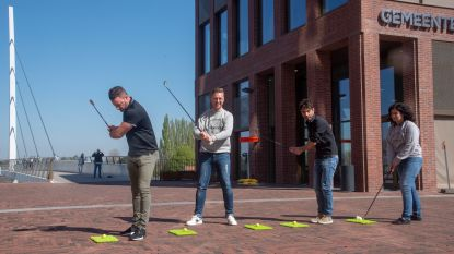 Balletje slaan in centrum Wetteren met City Golf
