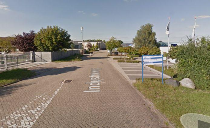 Het bedrijventerrein bij Sint-Philipsland