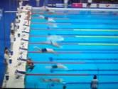 Spaanse zwemmer blijft uit protest staan om 'Barcelona'