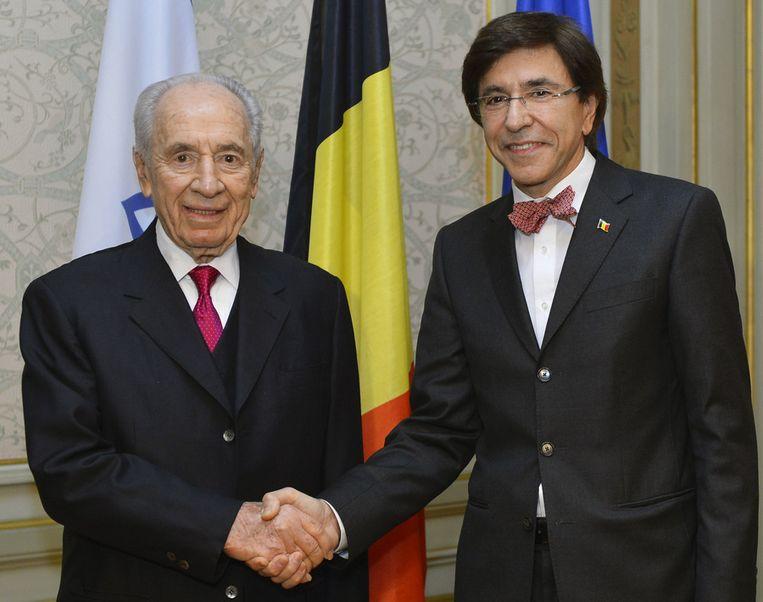 De Israëlische president Shimon Peres bij premier Di Rupo.