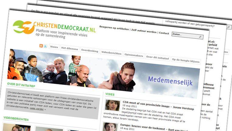 De website christendemocraat.nl Beeld