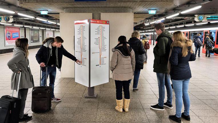 Metrostations worden relatief het vaakst genoemd als plek waar reizigers zich onveilig voelen. Beeld anp