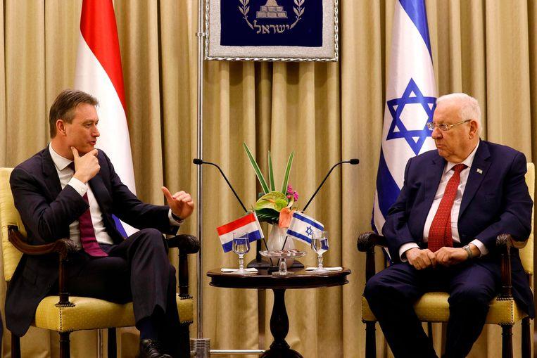 Met de Israelische president Reuven Rivlin op 10 januari. Beeld AFP